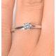 Engagement Ring Certified Petra 18K White Gold Diamond  0.25CT - image 4