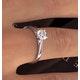 Engagement Ring Certified 0.70CT Petra Platinum  E/VS1 - image 4