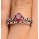 Stacking Ruby Ring Set in Sterling Silver - UT33221 - image 4