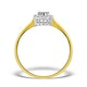 Sapphire 5 x 3mm And Diamond 9K Gold Ring  A3225 - image 2