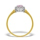 Pink Sapphire and 0.07ct Diamond Ring 9K Yellow Gold - image 2